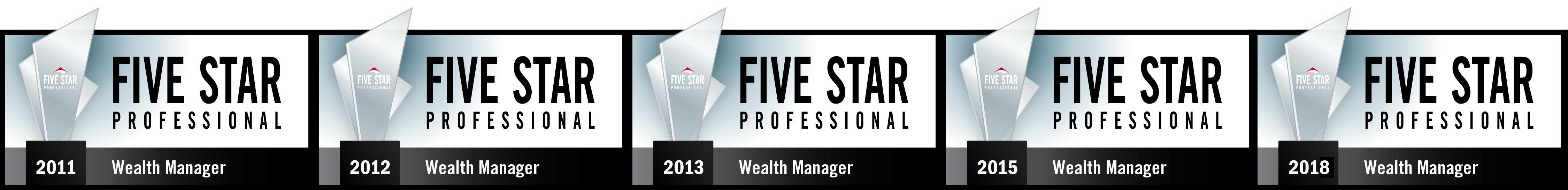 4x Five Star Wealth Manager Award Winner
